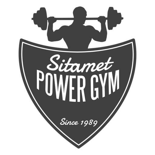 Sitamet power gym logo Transparent PNG