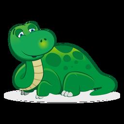 Dibujos animados de carácter dinosaurio soñoliento