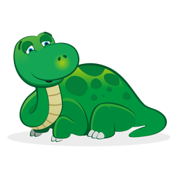 Sleepy dino character cartoon