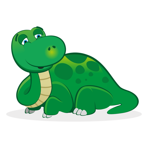 Sleepy dino character cartoon Transparent PNG