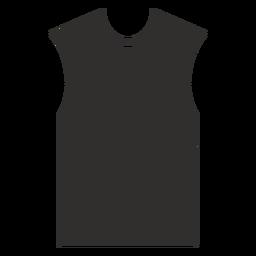Ícone plana de camiseta sem mangas