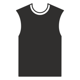 Sleeveless t shirt flat icon