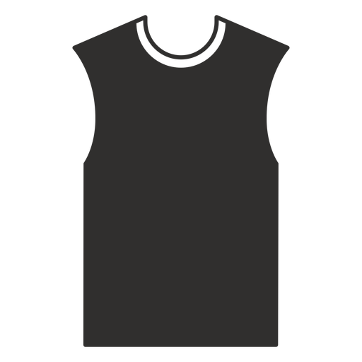 Sleeveless t shirt flat icon Transparent PNG