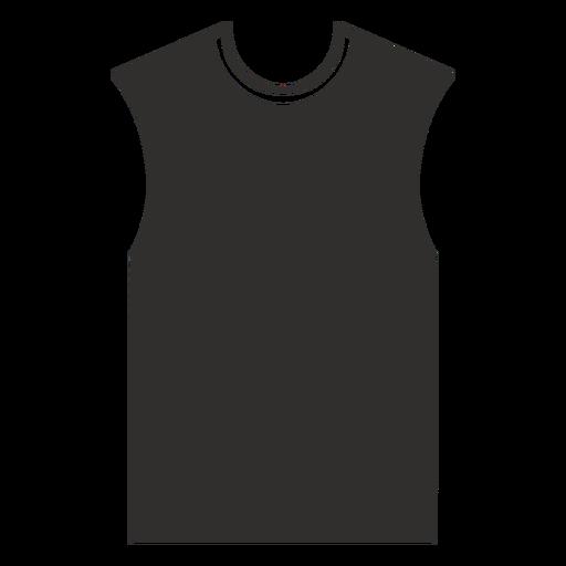 Sleeveless t shirt flat icon