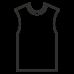 Ícone de traçado de camiseta sem mangas