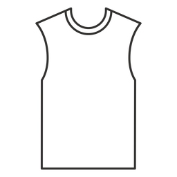 Sleeveless t shirt stroke icon