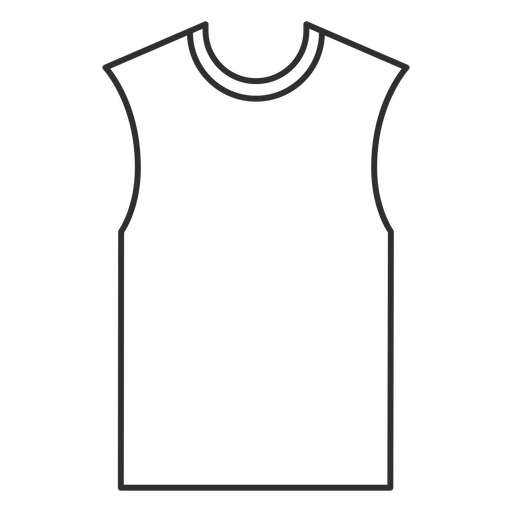 Sleeveless t shirt stroke icon Transparent PNG