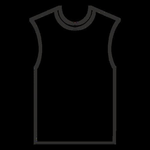 Sleeveless t shirt stroke icon
