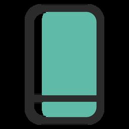 Smartphone icono de trazo de color