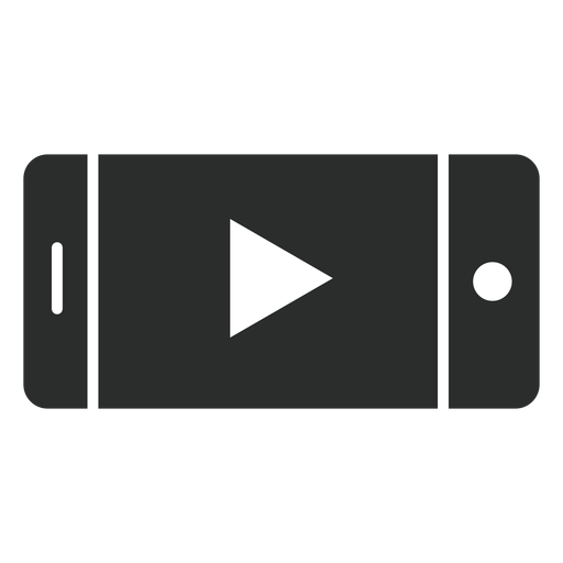 Smartphone player flat icon Transparent PNG