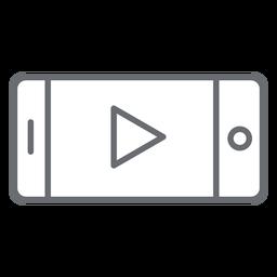 Icono de trazo de jugador de smartphone