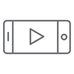 Smartphone player stroke icon