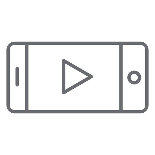 Smartphone player stroke icon Transparent PNG