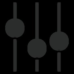 Ecualizador de sonido plano icono