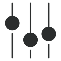 Flaches Symbol für Equalizer-Klang