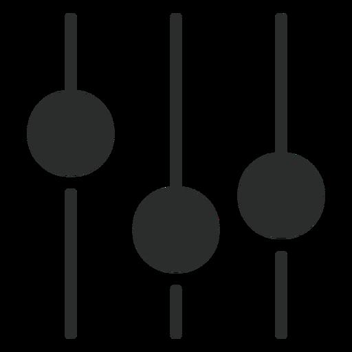Ecualizador de sonido plano icono Transparent PNG