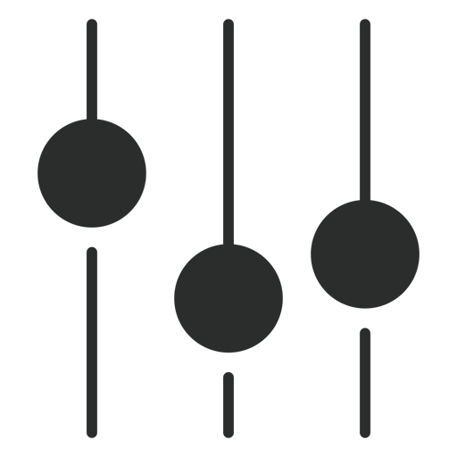 Sound equalizer flat icon