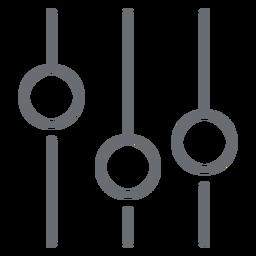 Icono de trazo del ecualizador de sonido
