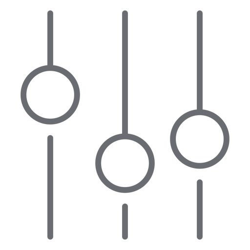 Sound equalizer stroke icon