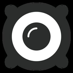 Ícone plana de driver de alto-falante