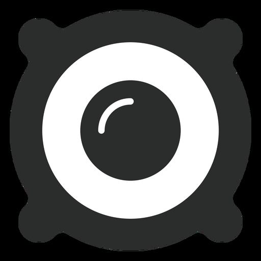 Ícone plana de driver de alto-falante Transparent PNG