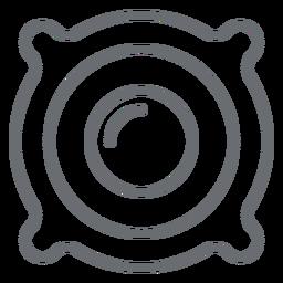 Icono de trazo de controlador de altavoz