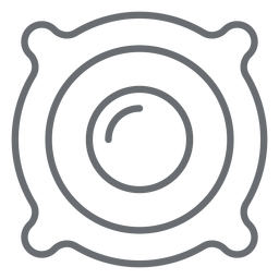 Icono de trazo del altavoz del altavoz
