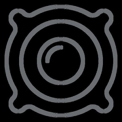 Icono de trazo del altavoz del altavoz Transparent PNG