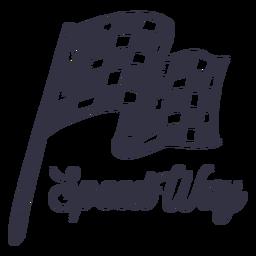 Logotipo de motocicleta de maneira de velocidade
