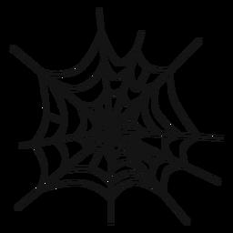 Spider web hand drawn