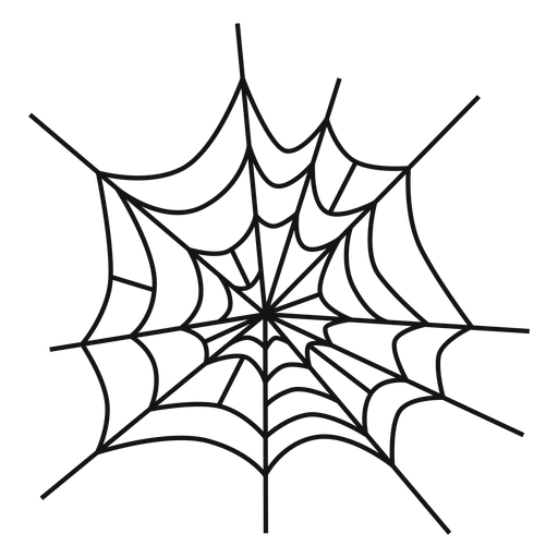 Spider web hand drawn Transparent PNG
