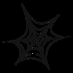 Spider web icono de línea delgada