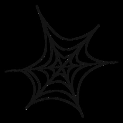 Spider web icono de línea delgada Transparent PNG