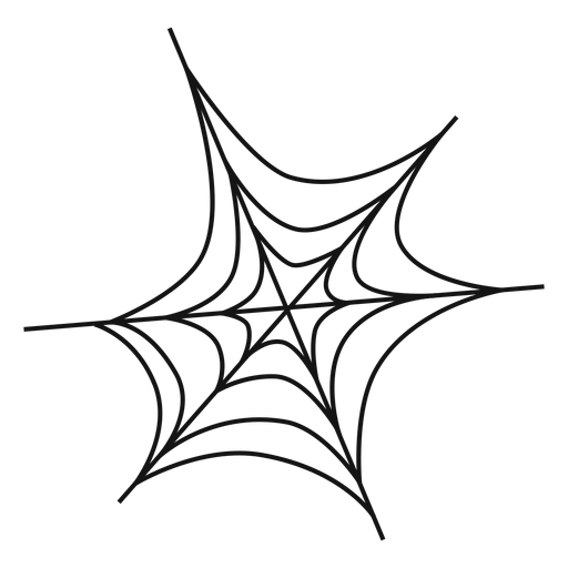 Spider web thin line icon Transparent PNG