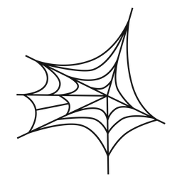 Ícone de linha fina de teia de aranha