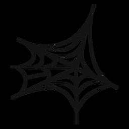 Icono de la delgada línea de telaraña