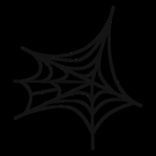 Spiderweb icono de línea delgada Transparent PNG