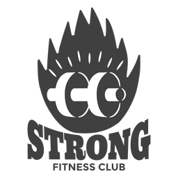 Fuerte logotipo del club de fitness