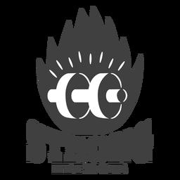 Logotipo do clube de fitness forte