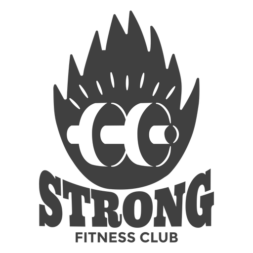 Logotipo do clube de fitness forte Transparent PNG