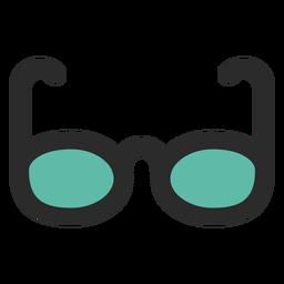Ícone de traço colorido de óculos de sol