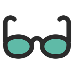 Sun glasses colored stroke icon