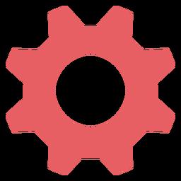Icono de trazo de color de ajustes del sistema