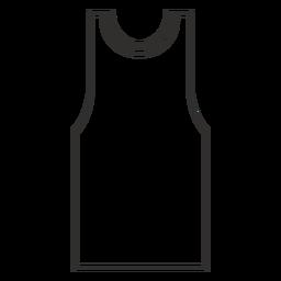 Ícone de traçado de top tanque