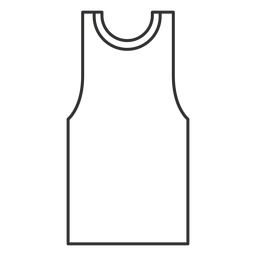 Tank top stroke icon