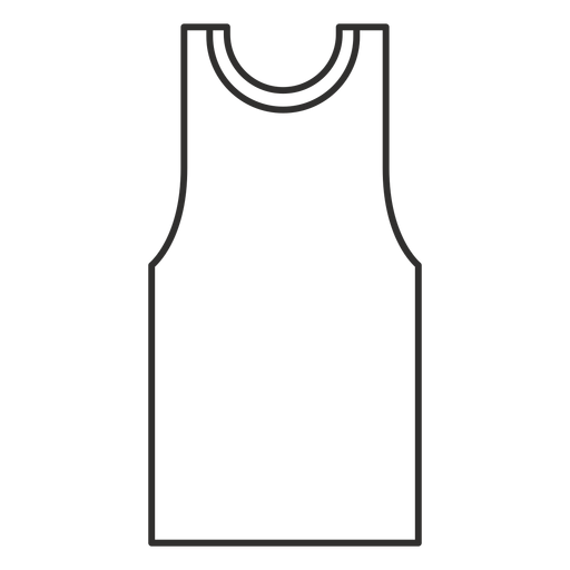 Tank top stroke icon Transparent PNG