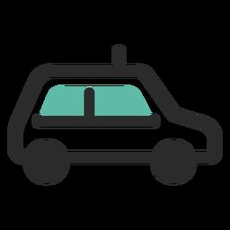 Ícone de traço colorido de táxi