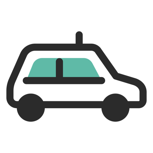Taxi colored stroke icon Transparent PNG