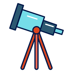 Telescope school icon