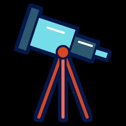 Telescope school icon